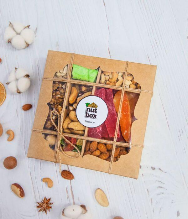 Подарочный набор орешков nutsbox №10 - подарок белочки - закрытый
